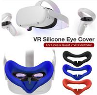 Nova almofada de tampa de máscara de olho de silicone para oculus busca 2 vr fone de ouvido respirável anti-suor luz bloqueando o olho capa para oculus quest2