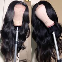 IShow Indien Corps droit Curly 40inch longue perruque péruvienne profonde en vrac Dentelle Frontal perruques de cheveux humains Eau de cheveux humains avant de dentelle perruque