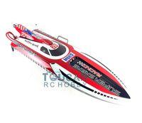 """G30H ARTR 54 """"moteur 30cc en verre de fibre de la fibre de verre RC Racing hébergement Bateau de gouvernail de repère rouge TH02681"""