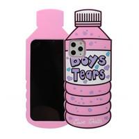 Dessin animé mignon garçons larmes bouteille d'eau cassette en silicone doux pour iPhone 12 11 Pro Max XR XS x 6 7 8 Plus