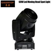 TIPTOP 60W Led Moving Head Işık Renk Çemberi / Gobo Tekerlek 3 Façeta Prizma Rotasyon Elektronik Yakınlaştırma 13 Derece Işın Açısı