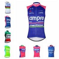 Yaz Lampre Takım Spor Giyim Bisiklet Formaları Nefes Döngüsü Giyim Hızlı Kuru Bisiklet Gömlek Erkek Kolsuz Bisiklet Yelek H042420