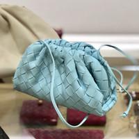 Nova moda em couro tecer genuína senhoras bolsa nuvem de moda embreagem saco de mão macia bolinho de couro C1009 bolsa de ombro bolsa hobo