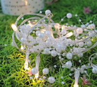 Bianco perla stringa festival luce LED Snow Fallato lampada da festa 10 luci decorative stringa in plastica vendita calda 11 4YF L2
