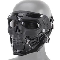 Halloween Skeleton Airsoft Mask Full Face Face Skull Cosplay Masquerade Party Mask Paintball Military Combat Game Face Protective Mas Y200103