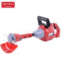 Zhorya jardim ferramenta rotating motosserra com luminoso cortador de grama finge jogar ferramenta elétrica brinquedos ferramentas de reparação para meninos crianças lj201009