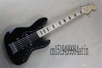 2021 Top Quality Factory Custom jazz Black 5 String made in usa Maple fingerboard electric Bass Guitar