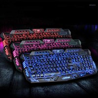 3-Color Mechanical Keyboard Mouse USB Wired Gaming Keyboard Mouse Cool LED Colorful Breathing Backlit Waterproof Crack1