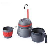 350ml exterior campismo de mesa de piquenique cafeteira com copos pode ser utilizado para queimar o alumínio fogão café liga máquina cacau C1108