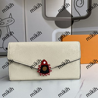 Mode Womens Portefeuille Classic Lettre Impression Zone Zipper Design Top Medies Purse Casual Multi-Card Long Holders