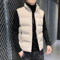 Gilets pour hommes 2021 hiver hommes épaissir des vestes chauffées sans manches manteau à glissière fermeture fermeture à glissière de poche coloctoat chaleco hombre rouge