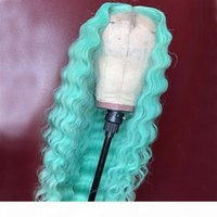 Perucas dianteiras de renda cinza cabelo humano 13x4 pré arrancado 613 blonde azul rosa # 1b perucas para mulheres negras onda de água brasileira remy