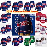 Montreal Canadiens 2021 Odwróć Retro Koszulki Hokejowe Jonathan Drouin Chris Chelios Jesperi Kotkaniemi Tomas Tatar Jeff Petry Customed Szyte