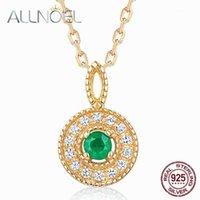 Cadeias Allnoel 925 Sterling Silver Mulheres Colar 100% Natural Pink Tourmaline Esmeralina 2.5mm Genuine Golden Engagement High Jewelry1