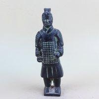 Statua del modello del carattere dell'esercito di terracotta antico antico cinese QT014