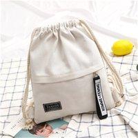 New Fashion Canvas Drawstring Backpack Bag Cinch Sack New Fashion Accesories Portable Casual String Sackpack Rucksacks 155 K2