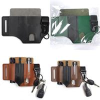 Retro EDC Taille Packung Werkzeug Holster Taschenlampe Messer Mantel Lagerung PU Material Rackwoods im Freien Sport Zubehör 15YZ N2
