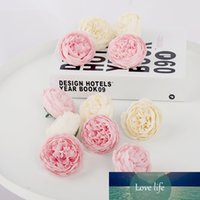 5pcs Pink Artificial Flowers Head Silk Peony Fake Flower for...