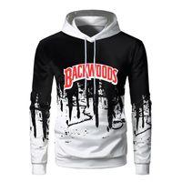 Yeni Moda Erkekler Backwoods Graffiti Hoodies Homme Kişilik Yaratıcı Hip Hop Cool Kazak Tişörtü Sudaderas Harajuku Y201123