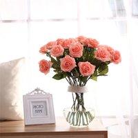 Casamento Decorativo Flores Artificial Falso Rosa Romântico Day Day Day para namorada casamento rosa flor wq623