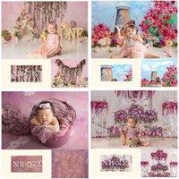 Hintergrund Material Blumen Theme Kinder Geburtstags-pographie hintergrund floral geborene porträt baby shower pocall requisiten poshoot1