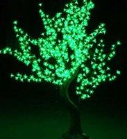 1.5m 576leds Brillante LED Flor de cerezo Árbol de Navidad Iluminación Iluminación impermeable Lámpara de decoración de paisaje para la fiesta de bodas