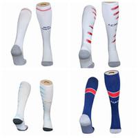 2020 2021 Gerçek Madrid Marsilya Manchester Paris Messi Kane Futbol Yetişkin Çocuklar Çorap Diz Yüksek Kalın Futbol Spor Çorap