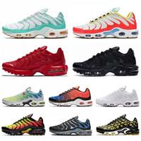 La manera barata Plus TN más el tamaño 12 para hombre de los zapatos corrientes del trullo Gira Mujeres Maxes zapatillas Triple Rojo Negro Blanco Ultra Mens formadores de Se