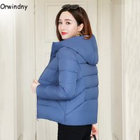 Autumn Winter Jacket Hooded Women Coat Loose Cotton- padded S...
