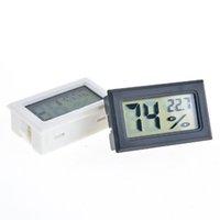 Noir / Blanc FY-11 Mini Numérique LCD Environnement Thermomètre Hygromètre Humidité Température Compteur dans la chambre Réfrigérateur Icebox