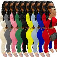 رياضية المرأة اثنان من قطعة مجموعة مرصوف سروال طويل كم قميص المحاصيل الأعلى مرصوف اللباس الداخلي سروال البدلة مطابقة ركض تتسابق مجموعة