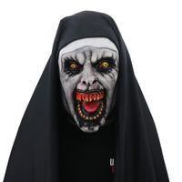 Film the Nun Horror masque cosplay costumes latex effrayant valak masques masques pleine facture casque Halloween fête fête costume décor des accessoires