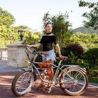 الكهربائية الدهون الدراجة 500W كروزر خمر شاطئ ريترو دراجات المدرسة القديمة Ebike الكهربائية للدراجات النارية