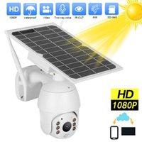 Kameralar WDSKivi Wifi Güneş Paneli Açık Pil Su Geçirmez 4G Sürüm IP Kamera 1080 P HD CCTV Güvenlik Kablosuz 360 PZT