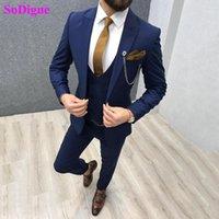 Combinaison de costume de mariage Sodigne Sodigne Sodigne Sodigne Slim Slim Fit pour hommes Groom Tuxedos 3 pièces GroomsMen Party Tuxedo1
