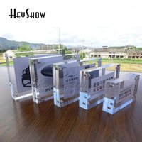 10x Acrylic Magnetic Price Tag Holder Label Frame Desk Crystal Photo Frame Display Stand Menu Name Card Rack Sign Base1