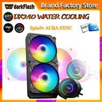 Aigo di raffreddamento ad acqua case del computer pc CPU Cooler ARGB fan aura di sincronizzazione del dispositivo di raffreddamento del dissipatore di calore del radiatore acqua LGA 2066/1155/2011 / AM3 + / AM4 AMD