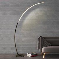 Minimalisme moderne Noir LED ligne Lampadaire Villa Hôtel Maison Salon de lecture Chambre Art Lumière permanent
