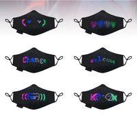 DIY led máscara negra máscara de conexão bluetooth máscara de festa de festa personalizado máscaras boat festa de barras de nightclub pode colocar filtro HHD4312