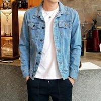 2018 automne veste en jean pour hommes nouvelle mode coréen style mâle mince jean manteau moto motard motard hommes cow-boy manteau extérieur vêtement plus taille1