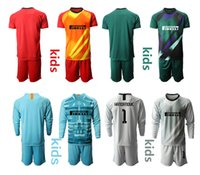 2021 حارس المرمى ميلان كاميسا دي فوتبول مخصص للأطفال مجموعات موحدة 1 handanouic لكرة القدم الأولاد تدريب كرة القدم جيرسي