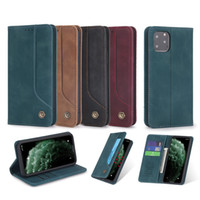 Iphone 12 Rétro cuir flip avec fente pour carte pour l'iphone 678, plus Xr 11 11 Pro Max 12 Samsung S10 S20 Note 20 smart 2020 Couverture