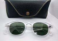 Acostumado Johnny Depp Retro-vintage óculos de sol polarizados Lentes de luz antiblue de qualidade Prancha de qualidade Full-Rim Occhiali da Sola Fullset Case L M S