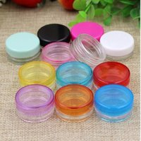 Ücretsiz Kargo 3 gr 5 Boş Plastik şişeler Kavanoz Kozmetik Krem Göz Jel Küçük Ruj Numune Ambalaj Kapları