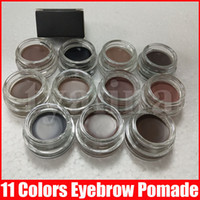 11 colors Eyebrow pomade cream Waterproof eyebrow Enhancers Creme Makeup full size with retail box DHL Free
