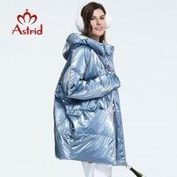 Astrid 2019 inverno nova chegada para baixo mulheres jaqueta solta roupas outerwear qualidade espessura média de algodão comprimento casaco de inverno FR-7078X1016