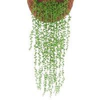 Dekoratif Çiçekler Çelenk 1 ADET Yapay Rattan Sahte Yaprakları Duvar Asılı Ev Bahçe Dekor Yeşil Willow Asma Bitkiler