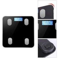 Peso digital de 11x11 polegadas e escala de gorduras corporais, balança de banheiro Bluetooth com alta precisão, 400lbs1