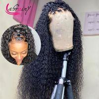 HD Transparente 360 Full Lace Frontal Human Hair Pelucas de pelo 13x6 Rizado Peluca delantera de encaje 1b Onda de cuerpo Pelucas de pelo de bebé