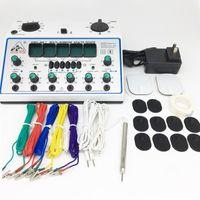 6 قنوات عشرات UNIT. متعدد الأغراض الوخز بالإبر تحفيز الصحة تدليك جهاز KWD-808I acupuntura العصبية الكهربائية مشجعا العضلات